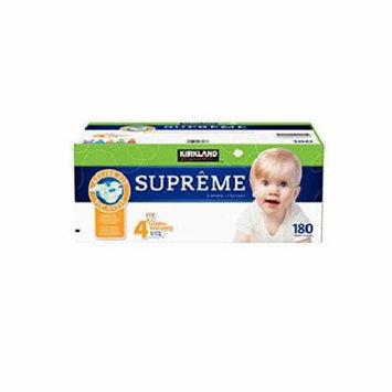 Kirkland Signature Supreme Diapers Size 4; Quantity:180