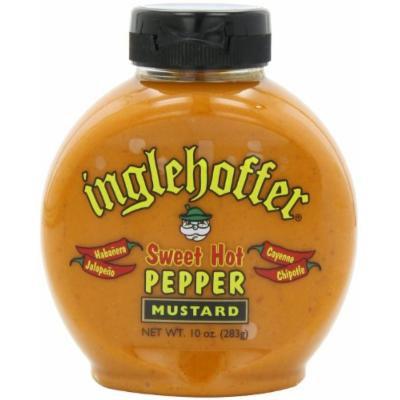 Inglehoffer, Sweet Hot Pepper Mustard, 10oz Bottle (Pack of 2)