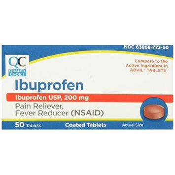 Quality Choice Ibuprofen 200mg. 50 Coated Tablets (Pack of 6)