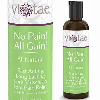 100% Natural Pain Relief Sports Balm, Fast Acting, Deep Penetrating, Long Lasting Sore Muscle & Joint Pain Management - 'No Pain! All Gain!' by Vi-Tae®