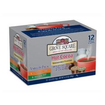 Grove Square Hot Cocoa Irresistible Flavors Variety Pack, 12 Single Serve Cups