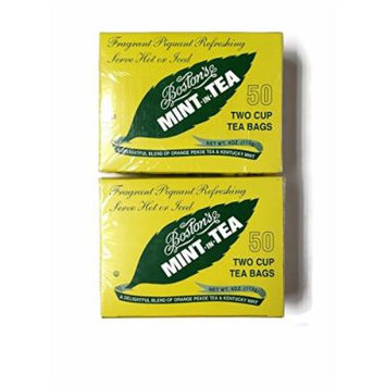 Boston Tea Mint-in-Tea, 50-count Boxes (Pack of 2)