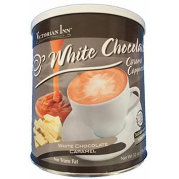 Victorian Inn Instant Cappuccino, White Chocolate Caramel, 32-ounce Canister
