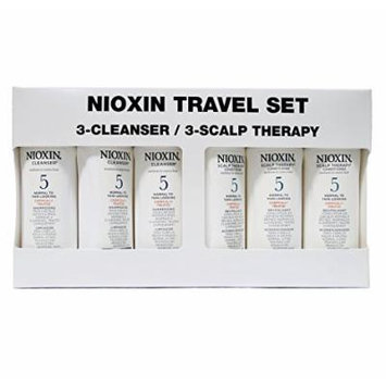 Nioxin Cleanser & Scalp Therapy Duo *Value Pack* Travel Size (50ml) 1.7 oz. ea. (System #5 Duo 3-Pack)