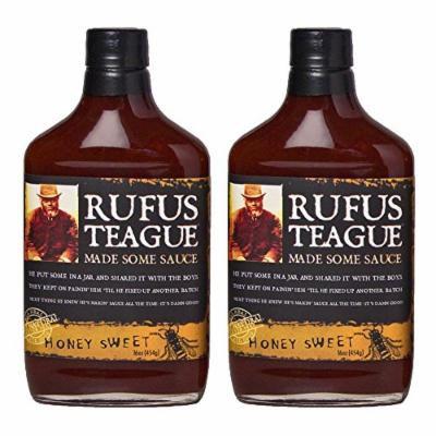Rufus Teague's Award Winning BBQ Sauces - OU Kosher - Honey Sweet (2 Pack) (375 ml each)