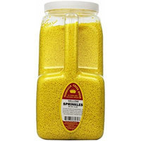 Marshalls Creek Spices Sprinkles, Yellow, XX-Large, 9 Pound