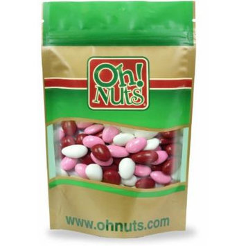 Valentines Candy Red, Pink, White, Jordan Almonds 2 Pound Bag - Oh! Nuts
