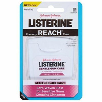 Listerine Gentle Gum Care Woven Floss Mint 50 Yards (Pack of 2)