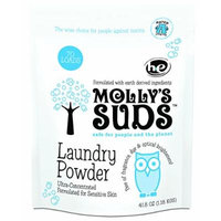 Molly's Suds Laundry Powder 70 loads - All Natural, Free of Parabens, Harsh Chemicals, Synthetic Fragrance & Dyes.