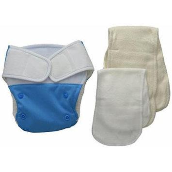 BabyKicks Premium Cloth Diaper Hook and Loop Closure, Azure