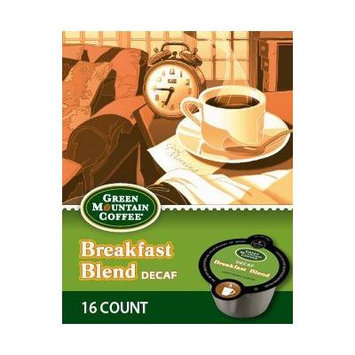 128 Count, Green Mountain Breakfast Blend Decaf VUE Packs For Keurig Vue Brewers (8 - 16 ct VUE Packs)