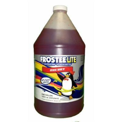 Frostee Lite Snow Cone Syrup, Cherry, 128 Ounce (pack of 4)