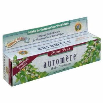 Auromere Ayurvedic Herbal Toothpaste, Mint Free 4.16 oz (117 g)