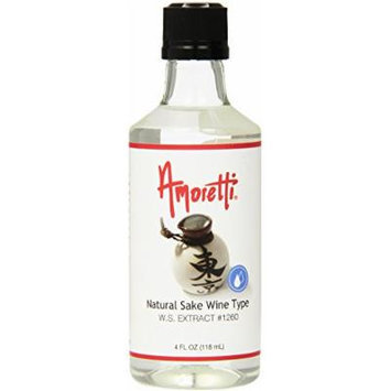Amoretti Natural Sake Wine Type Extract, 4 Fluid Ounce