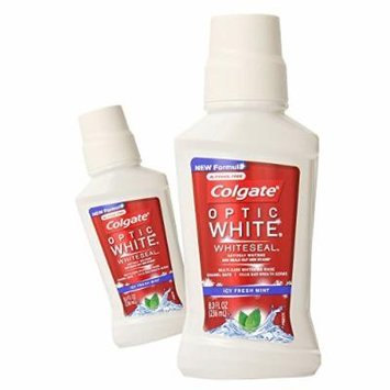 (2 Pack) Colgate Optic White Whiteseal Mouthwash, Icy Fresh Mint, 8 oz. ea.