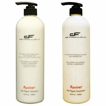De Fabulous Reviver Hair Repair Shampoo & Treatment Set, Sulfate Free (33.8 Fl Oz)