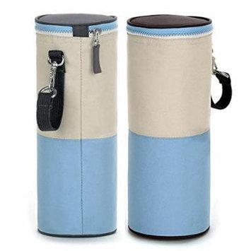 Travel Portable Baby Kid Feeding Milk Bottle Warmer Storage Holder Carrier Bag: Blue Color