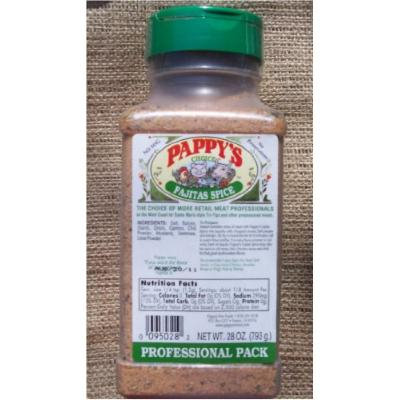 Pappy's Original Fajita Spice Seasoning 28 Oz. Professional Package