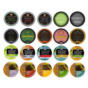 Custom Variety Pack Sampler Tea, Single Serve Cups for Keurig K Cup Brewers, 20 count