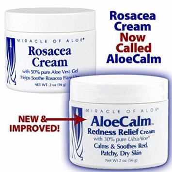 AloeCalm Cream - Fast Help for Rosacea & Eczema - Gently Cools and Soothes Hot, Inflamed, Itchy Skin. Lightly Tinted to Help Skin Appear More Natural.