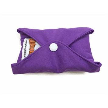 4 BubuBibi Maxi Night Bamboo Mama Cloths Menstrual Reusable Sanitary Liner Pads (Purple)