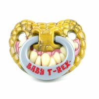 Styles Billy Bob Pacifiers Dummy Baby Teether Pacy Orthodontic Nipples#Baby T-Rex