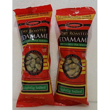 Seapoint Farms Dry Roasted Edamame Lightly Salted 1.58 OZ (2 Pack)