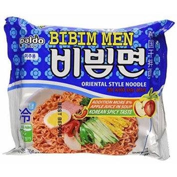 BIBIM MEN Oriental Style Noodle, Spicy Cold(Mi Kho Dai Han) Multi Package(5 packs)