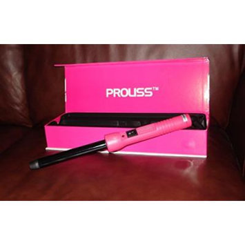 Proliss Twister Pink Print 25mm Tourmaline Ceramic Curling Iron with Glove