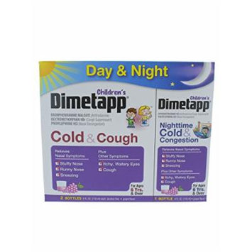 Children's Dimetapp Cold & Cough/Congestion 2 pack + Day/Night Value 1 Pack