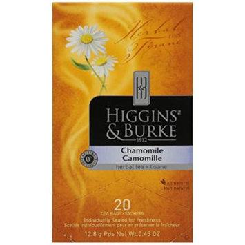 Higgins & Burke, Herbal Tea, Chamomile, 20 Count (Pack of 6)