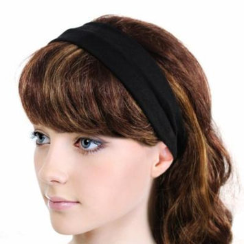 Simple Solid Color Stretch Headband - Black (1 Pc)