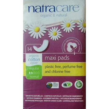 Natracare Regular Maxi Pads - Organic and Natural, Normal - 14 Count - Pack of 3