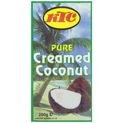 KTC Pure Creamed Coconut, 200-Gram Boxes (Pack of 40)