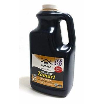 YAMASA 100% Naturally Brewed Organic Tamari Soy Sauce, Gluten Free, USDA Certifed Organic 64oz