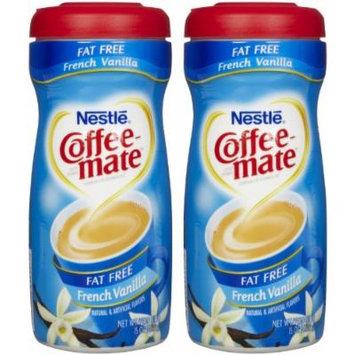 Coffee-mate Fat-Free Powdered Coffee Creamer - French Vanilla - 15 oz - 2 pk
