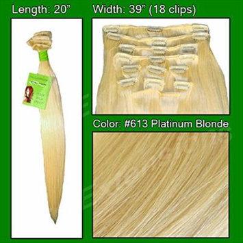 Pro Extensions #613 Platinum - 20 inch Remi Set - 100% Human Hiar Extension Grade A+
