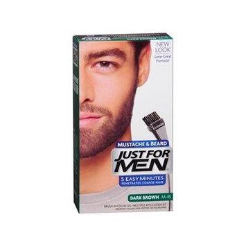 Just For Men Brush-In Color Gel for Mustache & Beard, Dark Brown M-45