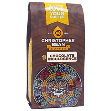 Christopher Bean Coffee Flavored Whole Bean Coffee, Chocolate Indulgence, 12 Ounce