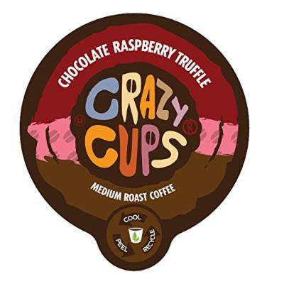 Crazy Cups Chocolate Raspberry Truffle Flavored Coffee Single Serve Cups (88 count)
