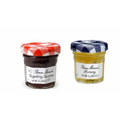 Bonne Maman Duo Mini Jars - 1 Oz X 30 Pcs (15 Raspberry, 15 Honey)