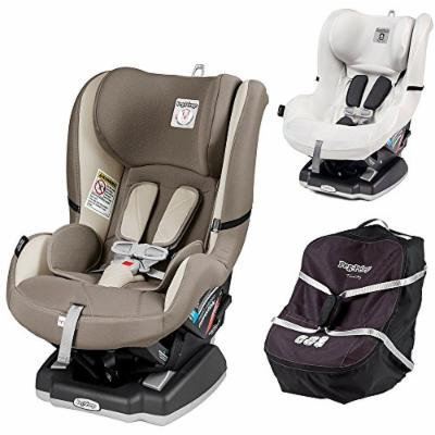Peg Perego Primo Viaggio Infant Convertible Car Seat w Car Seat Travel Bag & Clima Cover, White (Panama)
