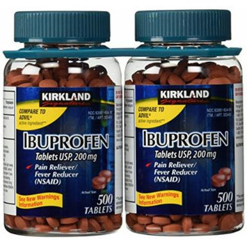 USP Ibuprofen, 200 mg, 500 Tablets (Pack of 2)