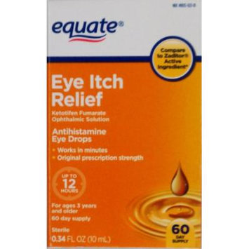 Equate Eye Itch Relief 60-Day Supply Compare to Zaditor
