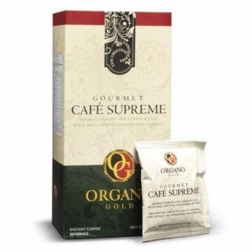 1 Boxes Organo Gold Gourmet Cafe Supreme with Ginseng Ganoderma Lucidum Extract + Free 1 Sachets Gano Excel Tongkat Ali Coffee