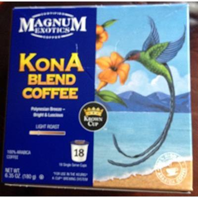 Magnum Exotics KONA Blend Coffee k cup (Polynesian Breeze) 18 Cts. (Box of 2)