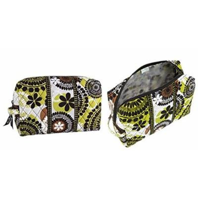 Vera Bradley Large Cosmetic in Cocoa Moss