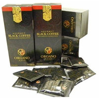 5 Boxes Organo Gold Gourmet Cafe Noir, Black Coffee 100% Certified Ganoderma Extract Sealed (1 Box of 30 Sachets)