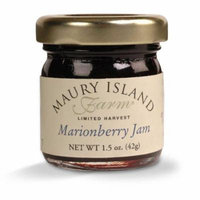 Gourmet Marionberry Jam, 1.5 oz Mini Jar - All Natural - by Maury Island Farms (Case of 72)