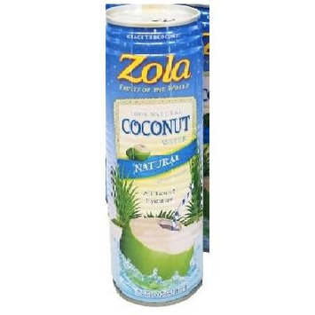 Zola - 100% Natural Coconut Water With Pulp - 17.5 oz (Pack of 2)